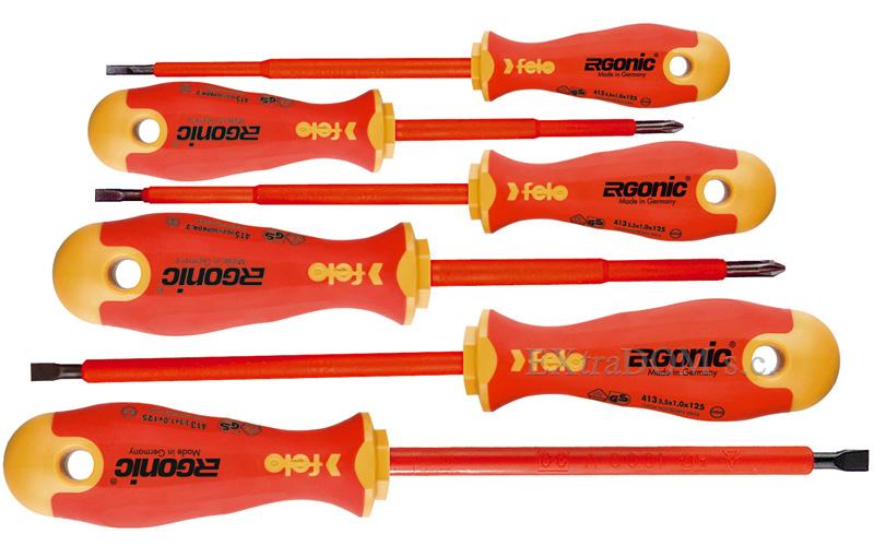 Wkrętaki izolowane Felo ERGONIC 1000V zestaw 6 sztuk 41396198