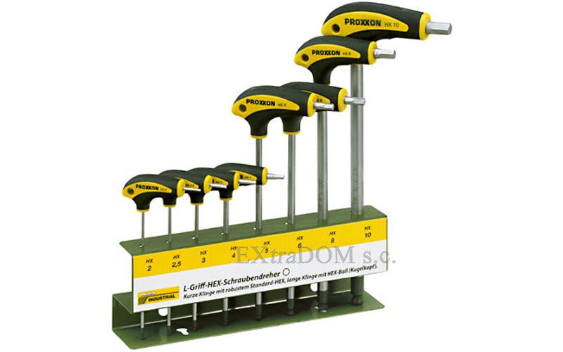 Klucze Imbusowe Proxxon L-Griff kpl. 8 sztuk ze stojakiem