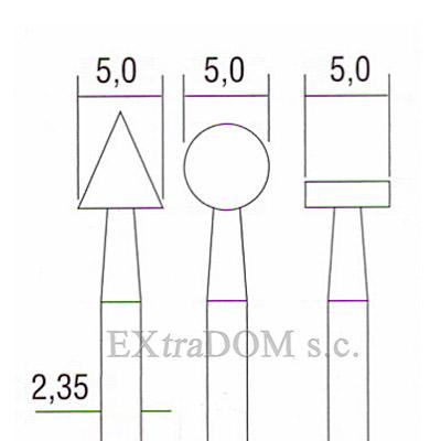 frez cylindryczny proxxon