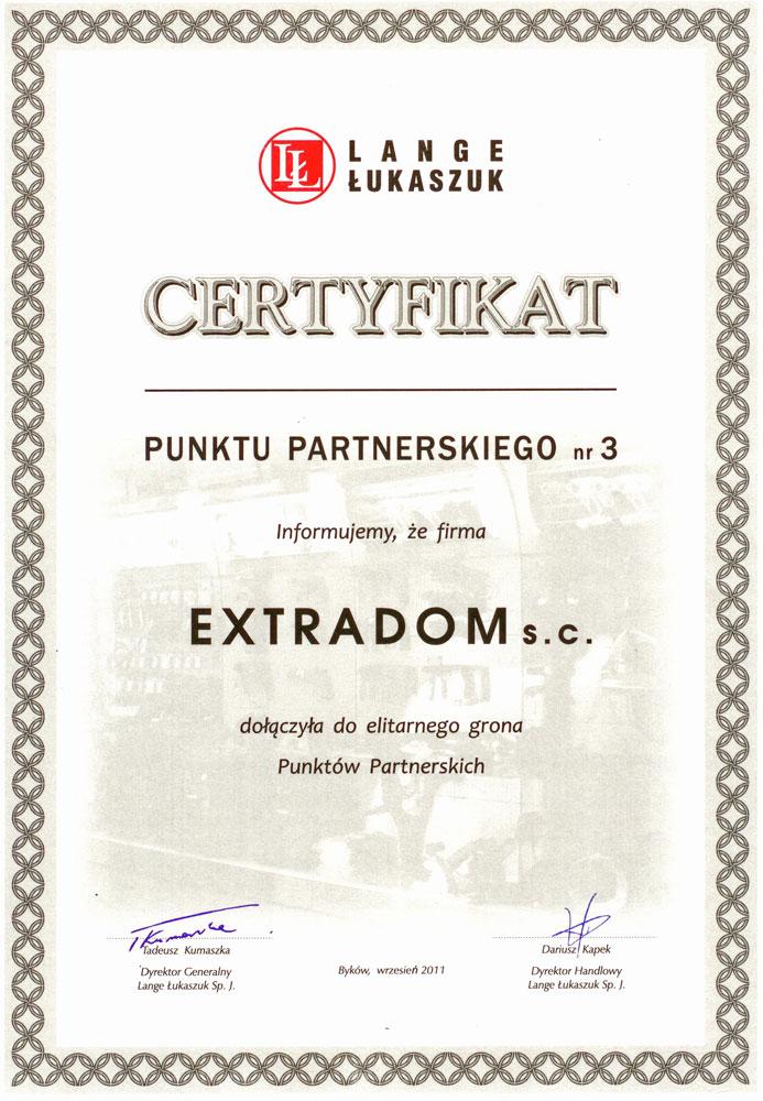 Certyfikat Mega Partner dla Extradom s.c.